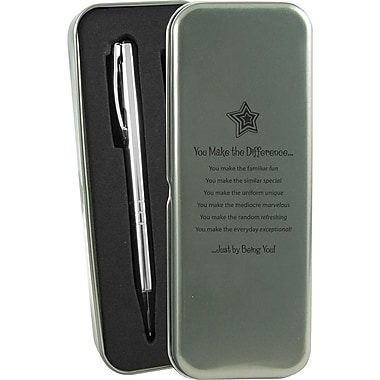 Baudville® in.You Make the Differencein. Silver Pen and Pencil Gift Set