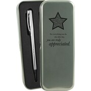 Baudville® You are Truly Appreciated Silver Pen and Pencil Gift Set