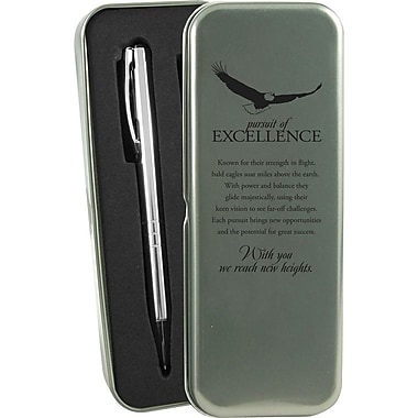 Baudville® in.Pursuit of Excellencein. Silver Pen and Pencil Gift Set