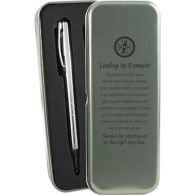 Baudville® in.Leading by Examplein. Silver Pen and Pencil Gift Set