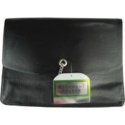 Faux Leather Document Wallet, Black