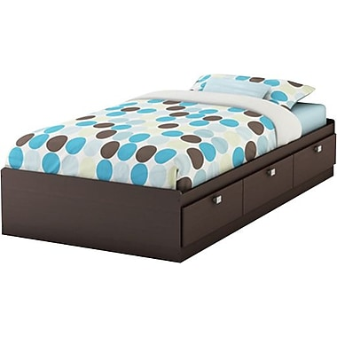 South Shore Cakao Collection Twin Mates Bed, Chocolate