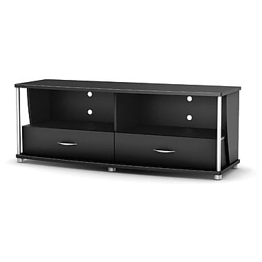 South Shore City Life Collection TV Stand, Solid Black