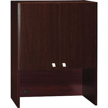 Bush Quantum 30 in W Storage Hutch, Harvest Cherry