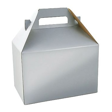 Shamrock 8in. Gable Box, Platinum Silver