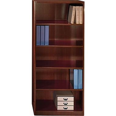 Bush® Quantum™ Collection Bookcase, 5-Shelf, Harvest Cherry
