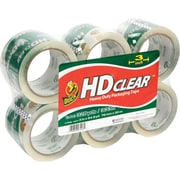 Duck® Crystal-Clear Packaging Tape, 3 x 54.6 yds, 6 Rolls