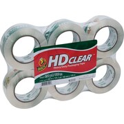 """Duck® Crystal-Clear Packing Tape, 1.88"""" x 109.3 yds, 6 Rolls"""
