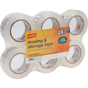 Staples® Heavy-Duty Storage Tape, Clear, 1.89 x 109.4 yds, 6 Rolls