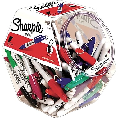 Sharpie® Mini Fine Point Permanent Markers, Assorted, 72/Pack