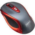 Staples® Wireless Optical Travel Size Mouse, Red