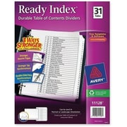 Avery® 31-Tab Ready Index® Classic Black & White Table of Contents Dividers