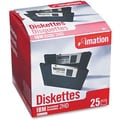Imation 25/Pack 1.44MB Floppy Diskettes, PC Formatted