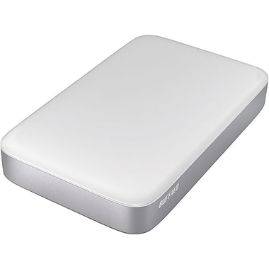 Buffalo Technology MiniStation Thunderbolt 500 GB Portable Hard Drive HD-PA500TU3, Silver