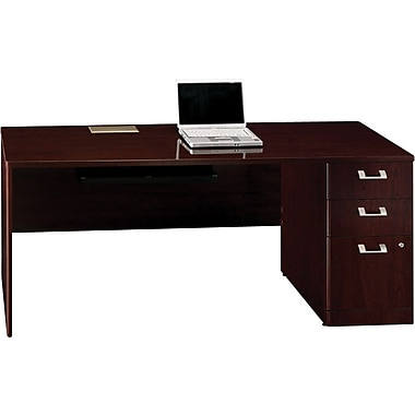 Bush Quantum 72 in W RH Single Pedestal Credenza, Harvest Cherry