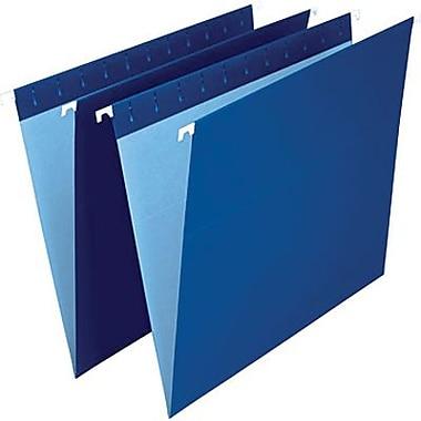 Staples® – Chemises suspendues de couleur, format lettre, 8 1/2 po x 11 po, bleu marine