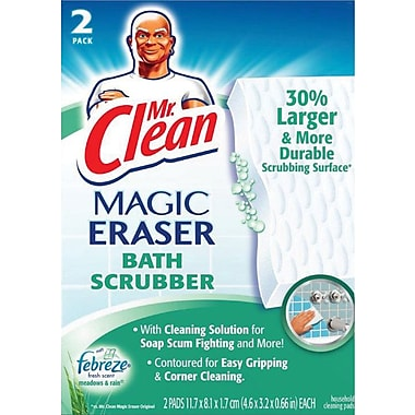 Mr. Clean Magic Eraser Bath Scrubber, 2/Pack