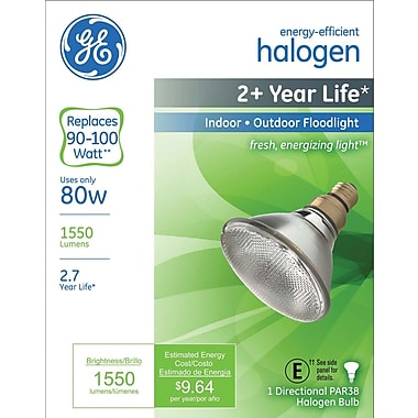 80 Watt GE Halogen Light Bulb