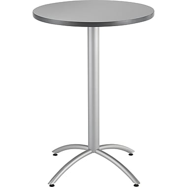 Iceberg CafeWorks Bistro Table, 30'' Round, Gray