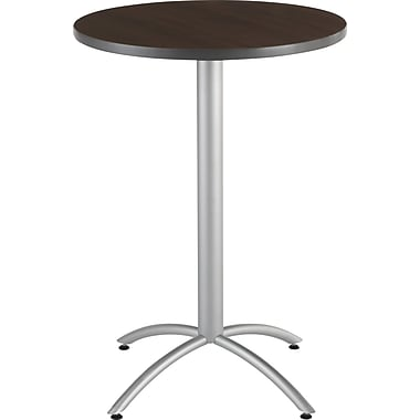 Iceberg CafeWorks Bistro Table, 30'' Round, Walnut