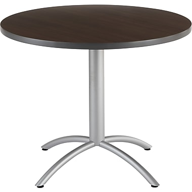 Iceberg CafeWorks Cafe Table, 36'' Round, Walnut