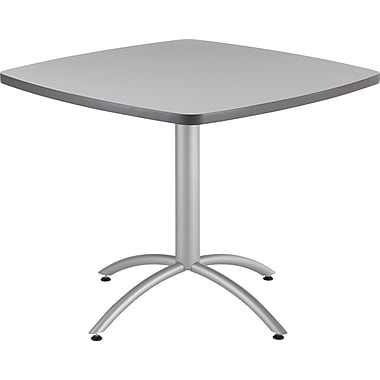 Iceberg CafeWorks Cafe Table, 36'' Square, Gray