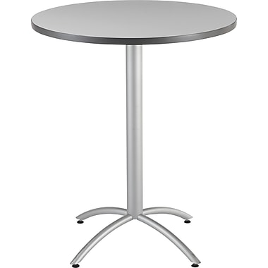 Iceberg CafeWorks Bistro Table, 36'' Round, Gray