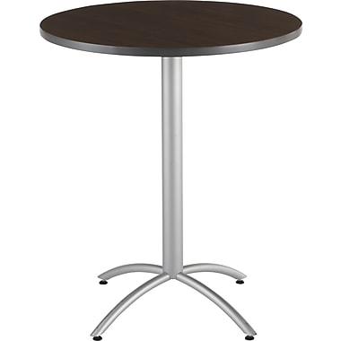 Iceberg CafeWorks Bistro Table, 36'' Round, Walnut