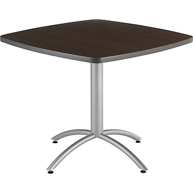 Iceberg CafeWorks Cafe Table, 36'' Square, Walnut