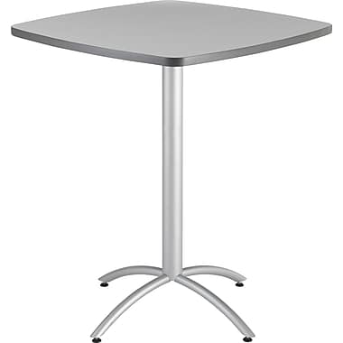 Iceberg CafeWorks Bistro Table, 36'' Square, Gray