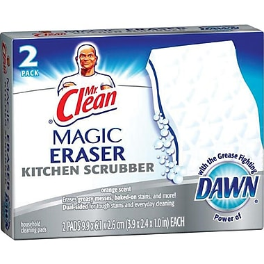 Mr. Clean Magic Eraser Unscented Kitchen Scrubber, 2/Pack