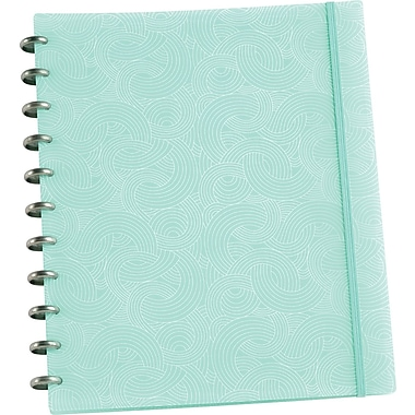 Martha Stewart Home Office™ with Avery™ Discbound Notebook, Blue Wave, Smooth, 9-1/2in. x 11-1/2in.