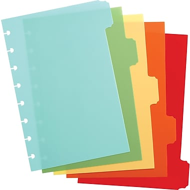 Martha Stewart Home Office™ with Avery™ Discbound Notebook Dividers, Classic, 5-Tab Set, 6in. x 8-1/2in.