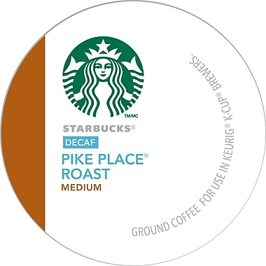 Keurig K-Cup Starbucks Pike Place Roast Coffee, Decaffeinated, 24/Pack