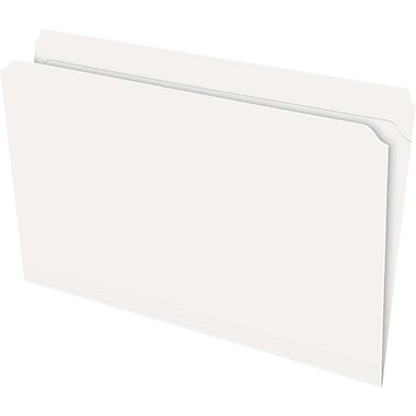 Staples® Recycled Reinforced Double-Top File Folders, Straight Cut, Legal Size, Ivory