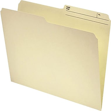 Staples® 50% Recycled File Folder, 1/2-Cut, Legal Size, Manila
