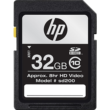 HP 32GB High Speed SDHC Flash Memory Card