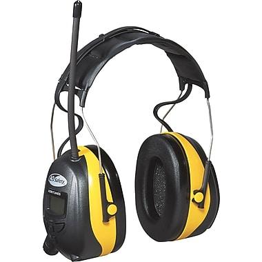 3M Tekk Protection Digital WorkTunes™ Earmuff, Yellow, 22 dB
