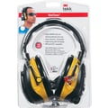 3M Tekk Protection Digital WorkTune Earmuff, Yellow, 22 dB