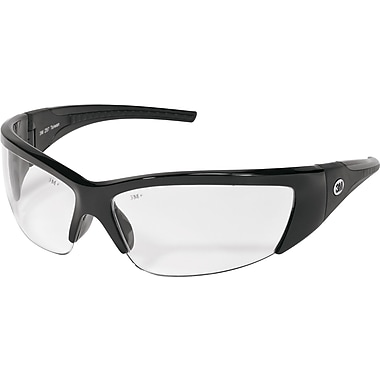 3M Tekk Protection Forceflex Flexible Half-Frame ANSI Z87 Safety Glasses, Clear