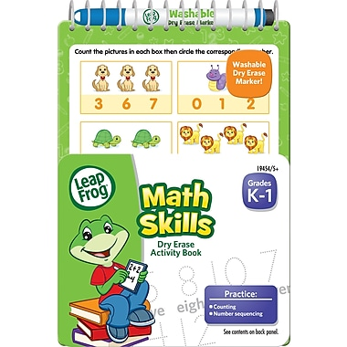 LeapFrog Math Skills Dry Erase Activity Book, 5in. x 7in.