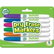LeapFrog Washable Dry Erase Markers, Assorted Colors, 6/Pk