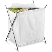 Honey Can Do Chrome 3-Compartment Folding Hamper