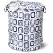 Honey Can Do Large Patterned Pop Open Hamper, Blue Print