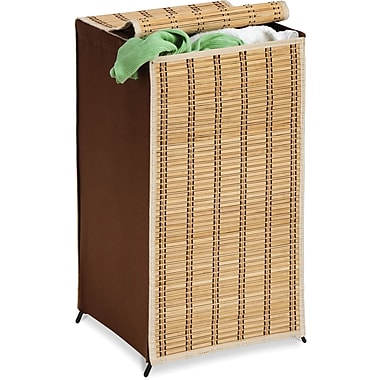 Honey Can Do® Tall Bamboo Wicker Weave Hamper