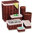 Honey Can Do 7 Piece Wicker Hamper Kit