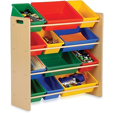 Honey Can Do® Kid's Storage Organizer, 12 Bin, Primary Colours