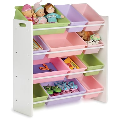 Honey Can Do Kids Storage Organizer, 12 Bin, Pastels