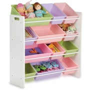 Honey Can Do Kids Storage Organizer, 12 Bin, Pastels