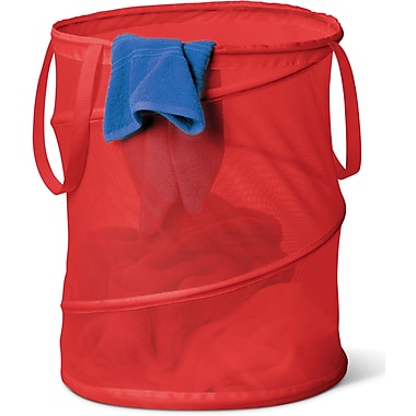 Honey Can Do Laundry Bag & Hamper Kit, Red